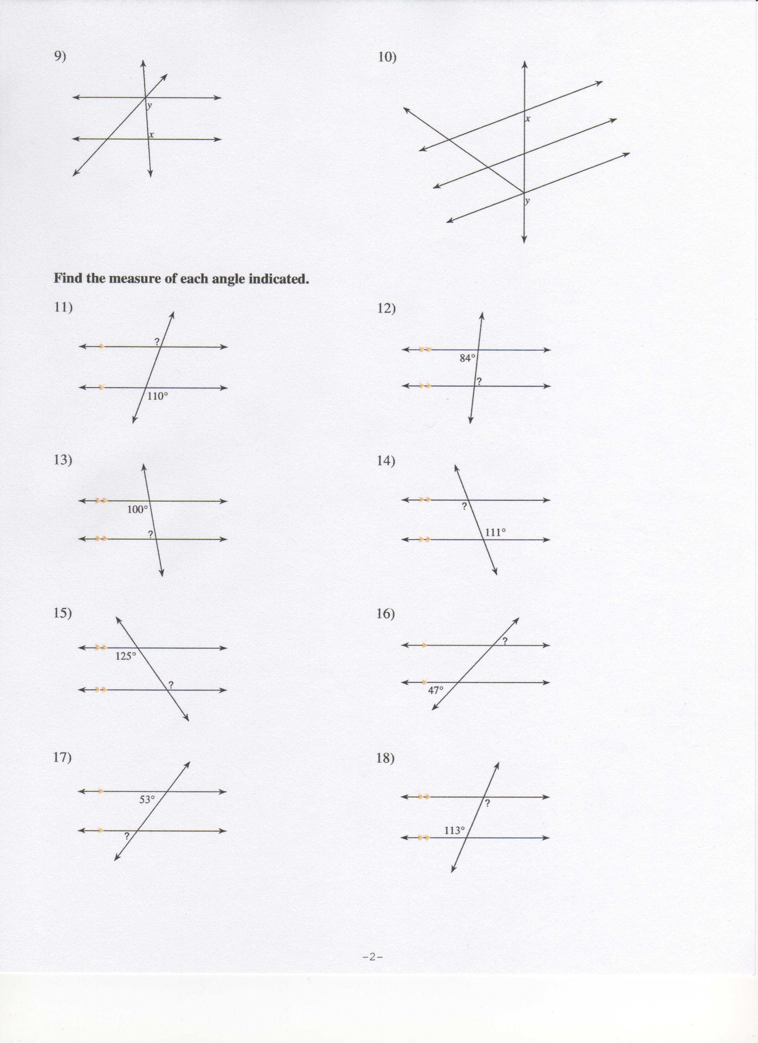 Hw Due 12 11 Plus Answers To Angles Wksht