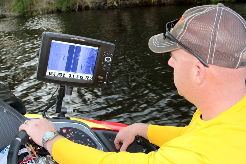 Matt Morgan carefully scans his target areas before deploying his spider rig, and believes high-quality electronics are essential to finding big schools of crappie.