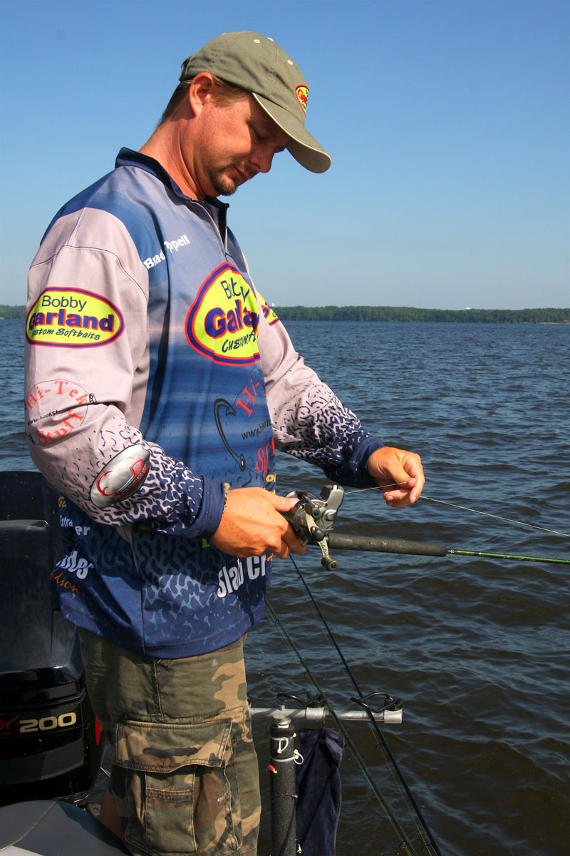 Chappell often uses line-counter reels when trolling to make fishing the right depth a cinch.