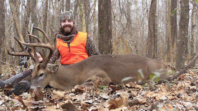 Blake Caruso killed this 191-inch-plus (gross) buck on Dec. 12 chasing a doe on a state Wildlife Management Area in North Mississippi with a .35 Whelan rifle during primitive weapon season.