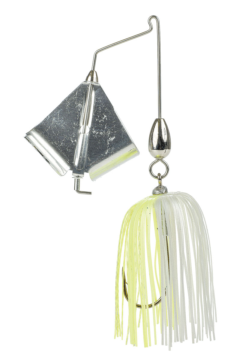 Chartreuse/white buzzbait
