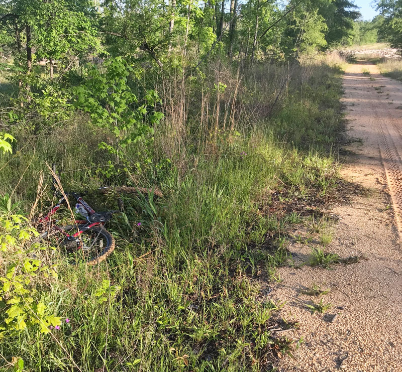 """Revel Rawlings """"ditched"""" his bike when gobblers responded very close on April 22 at Bienville National Forest."""