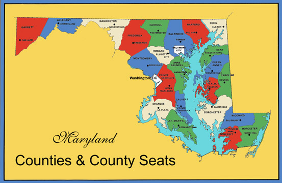 Image result for MARYLAND MAP