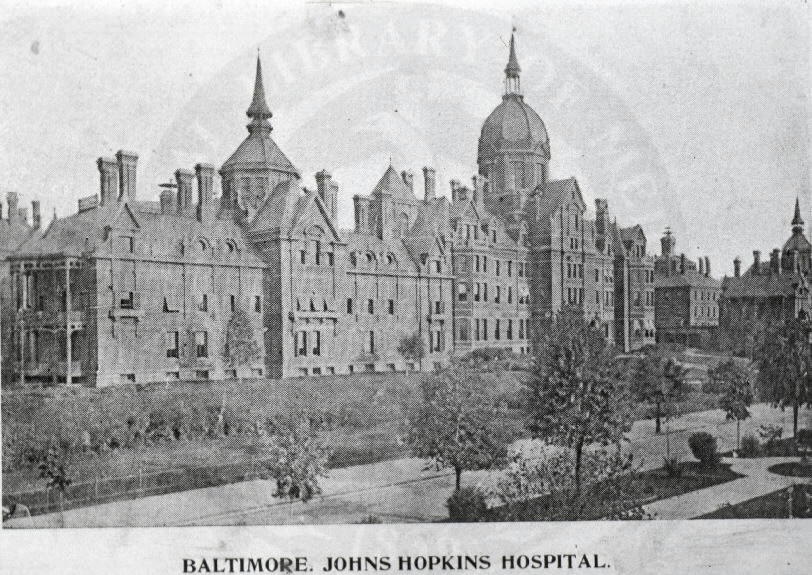 Johns Hopkins Hospital, Baltimore. Images from the History of Medicine Collection, Order No. A01762. National Library of Medicine, History of Medicine Division