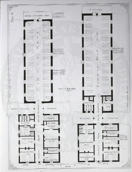 Johns Hopkins Hospital, Baltimore : [Floor plans of common wards] / John R. Niernseé, Architect. Images from the History of Medicine Collection, Order No. A01878. National Library of Medicine, History of Medicine Division