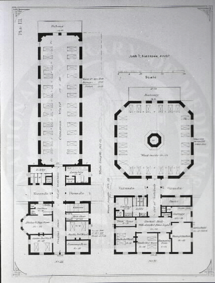Johns Hopkins Hospital, Baltimore : [Floor plans of common wards] / John R. Niernseé, Architect. Images from the History of Medicine Collection, Order No. A01877. National Library of Medicine, History of Medicine Division