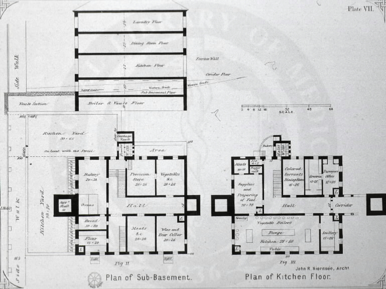 Johns Hopkins Hospital, Baltimore : [Floor plans of kitchen building] / John R. Niernseé, Architect. Images from the History of Medicine Collection, Order No. A01881. National Library of Medicine, History of Medicine Division