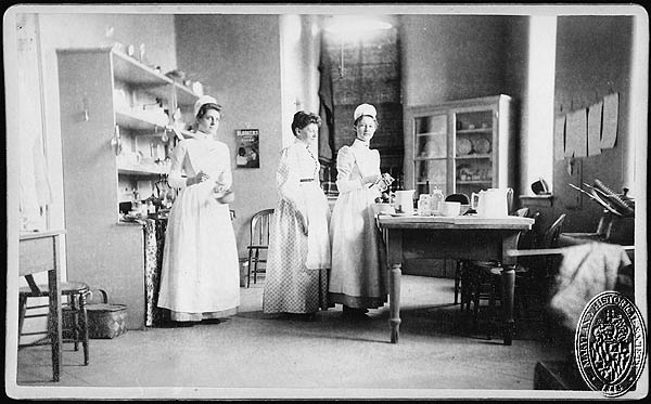 John Hopkins Nurses 1891 (Z24.416). Photograph Collections Cross-Section. Maryland Historical Society