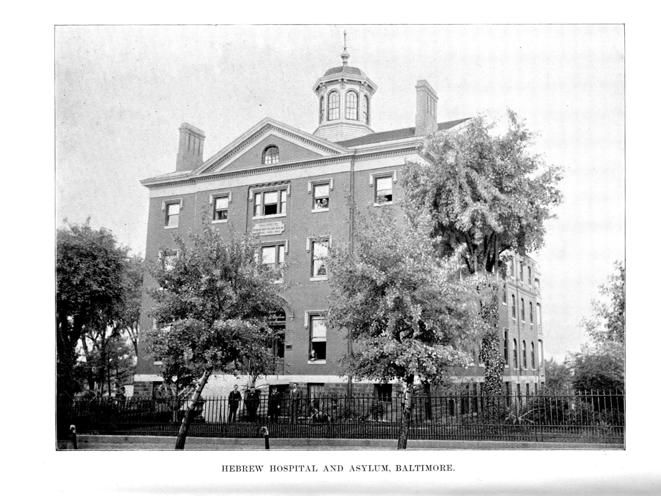 Hebrew Hospital and Asylum. Message of Frank Brown, Governor of Maryland, to the General Assembly at its Regular Session, January, 1894 (Baltimore: Wm. J.C. Dullany Company, 1894). Maryland State Archives