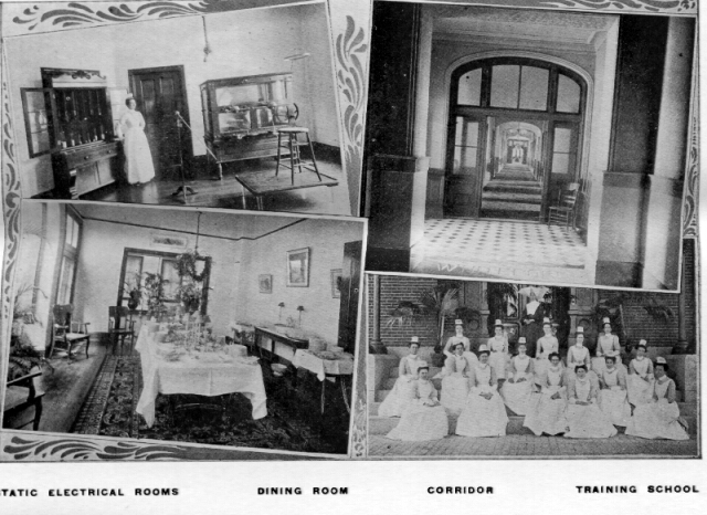 Static Electric Rooms; Dining Room; Corridor; Training School.