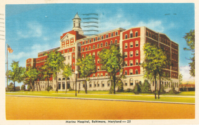 Marine Hospital, Baltimore, Maryland. Private collection.