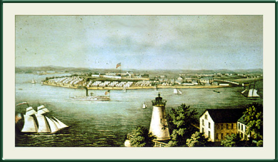 Fort McHenry, Baltimore, Maryland. [Lazaretto in the foreground]. Cator Collection. Enoch Pratt Free Library, Baltimore