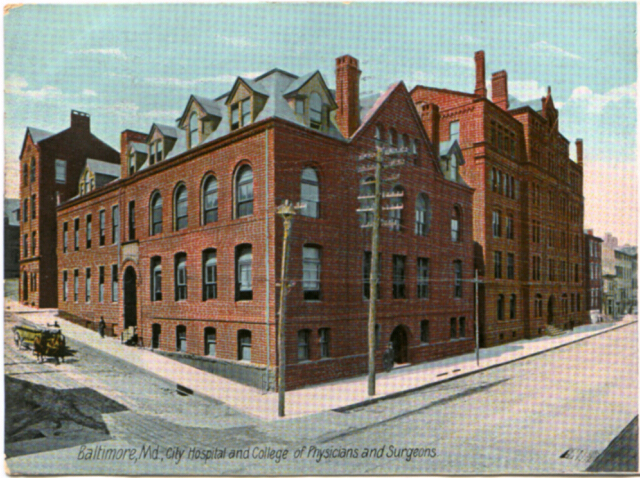 Baltimore, Md., City Hospital and College of Physicians and Surgeons. Private collection.