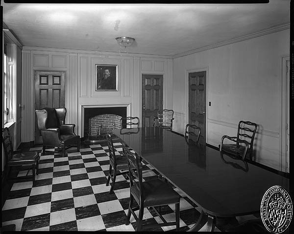 D. Stuart Webb - interiors of the Hospital for the Women of Maryland - meeting room. Hughes Studio Photograph Collection, PP 30, Box 10, Folder 94. Maryland Historical Society
