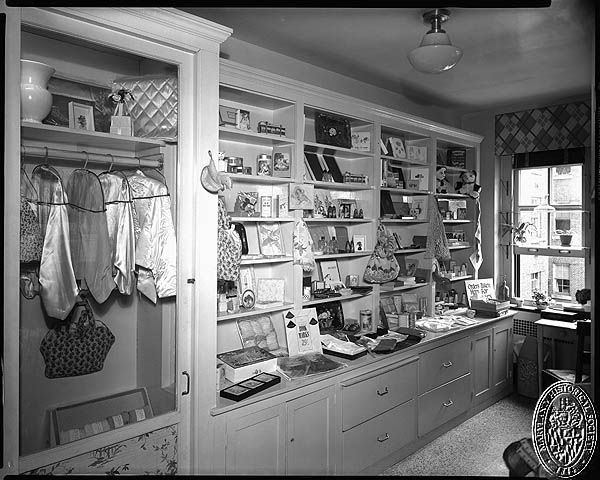 D. Stuart Webb - interiors of the Hospital for the Women of Maryland - gift store. Hughes Studio Photograph Collection, PP 30, Box 10, Folder 94. Maryland Historical Society