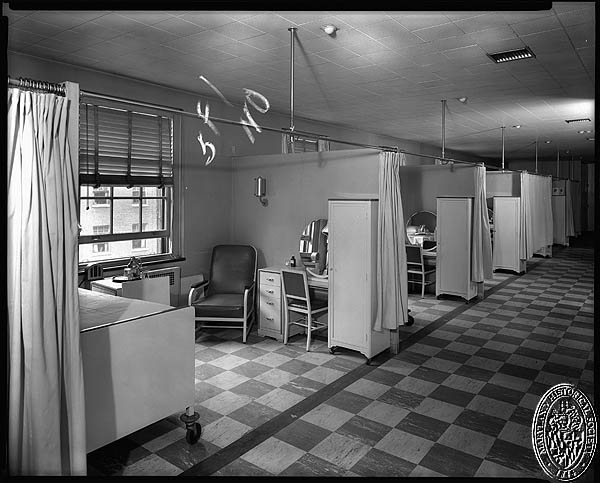 D. Stuart Webb - interiors of the Hospital for the Women of Maryland - semi-private rooms. Hughes Studio Photograph Collection, PP 30, Box 10, Folder 94. Maryland Historical Society