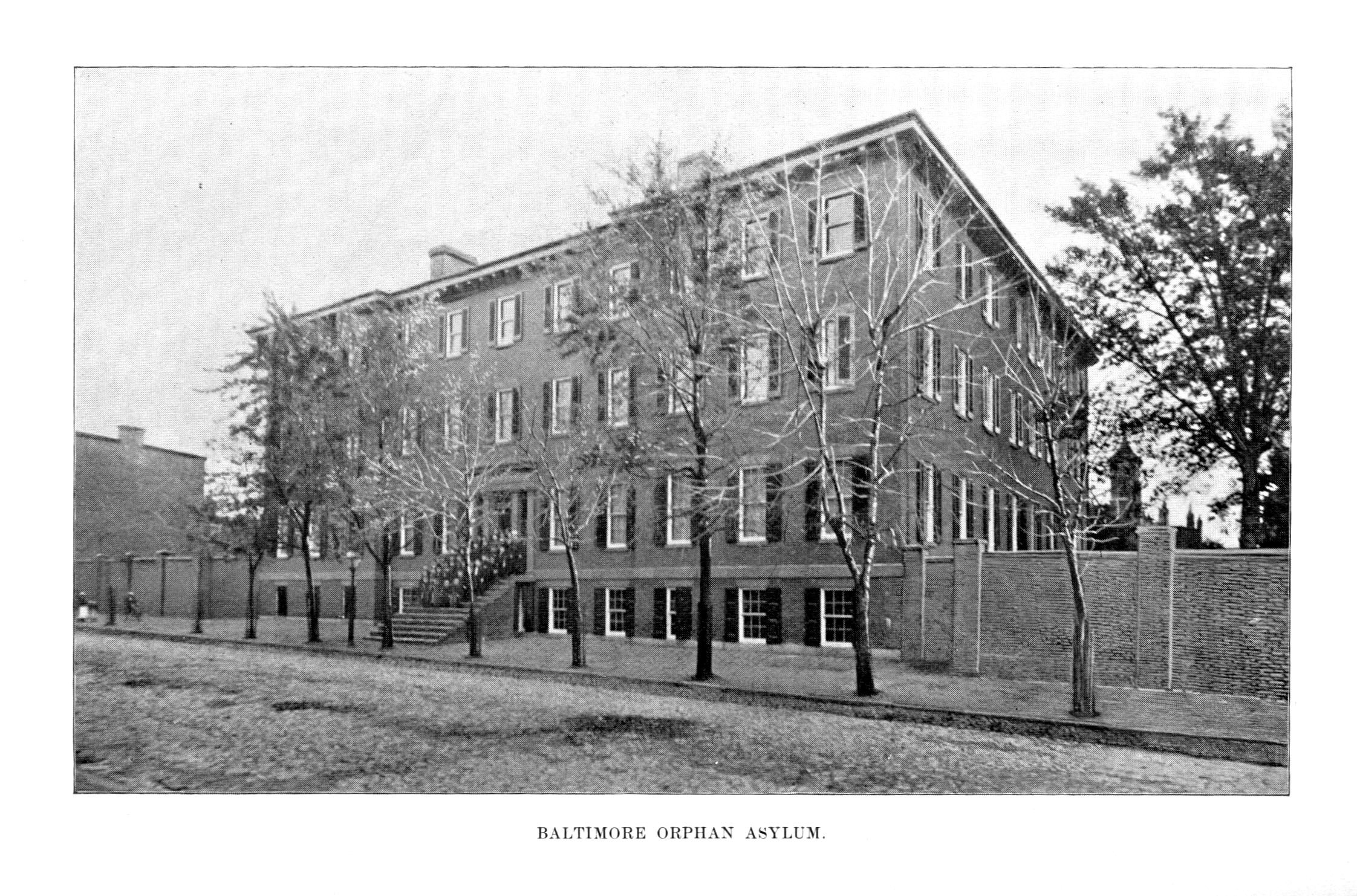 Baltimore Orphan Asylum. Message of Frank Brown, Governor of Maryland, to the General Assembly at its Regular Session, January, 1894 (Baltimore: Wm. J.C. Dullany Company, 1894).. Maryland State Archives