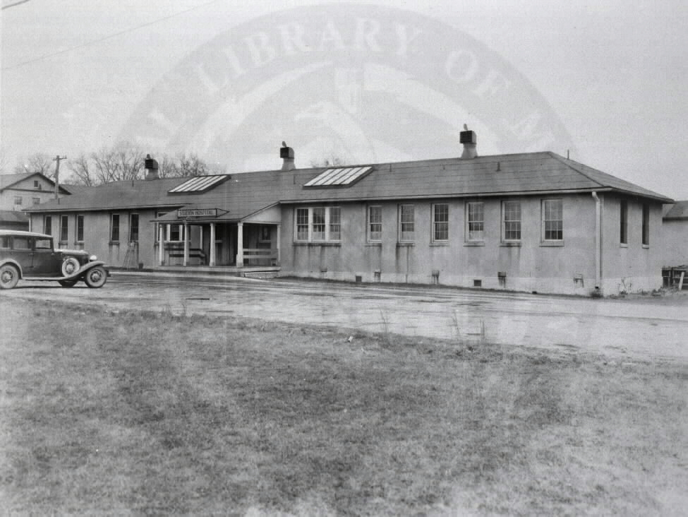 U.S. Army Station Hospital, Edgewood Arsenal, Maryland. : Front view of administration building.  A08902. Images from the History of Medicine Collection. National Library of Medicine