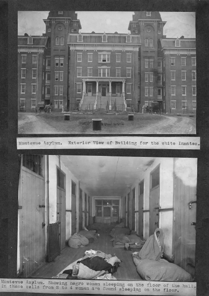 Montevue Asylum: white building; African American female ward. 23rd Annual Report of the Maryland Lunacy Commission. Maryland State Archives