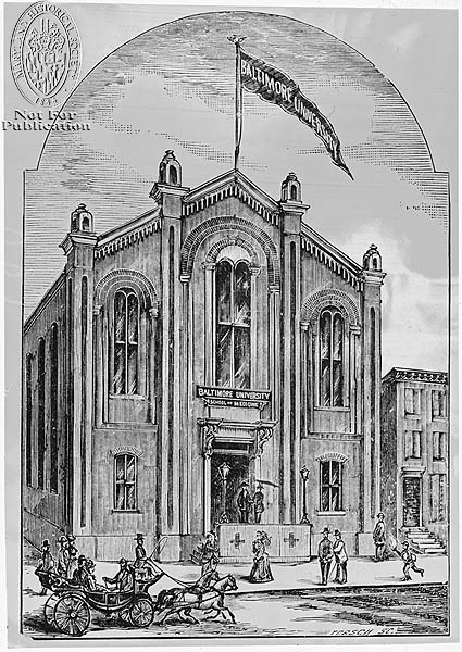(Z24.1259) Schools and Colleges – Baltimore University School of Medicine. Maryland Historical Society