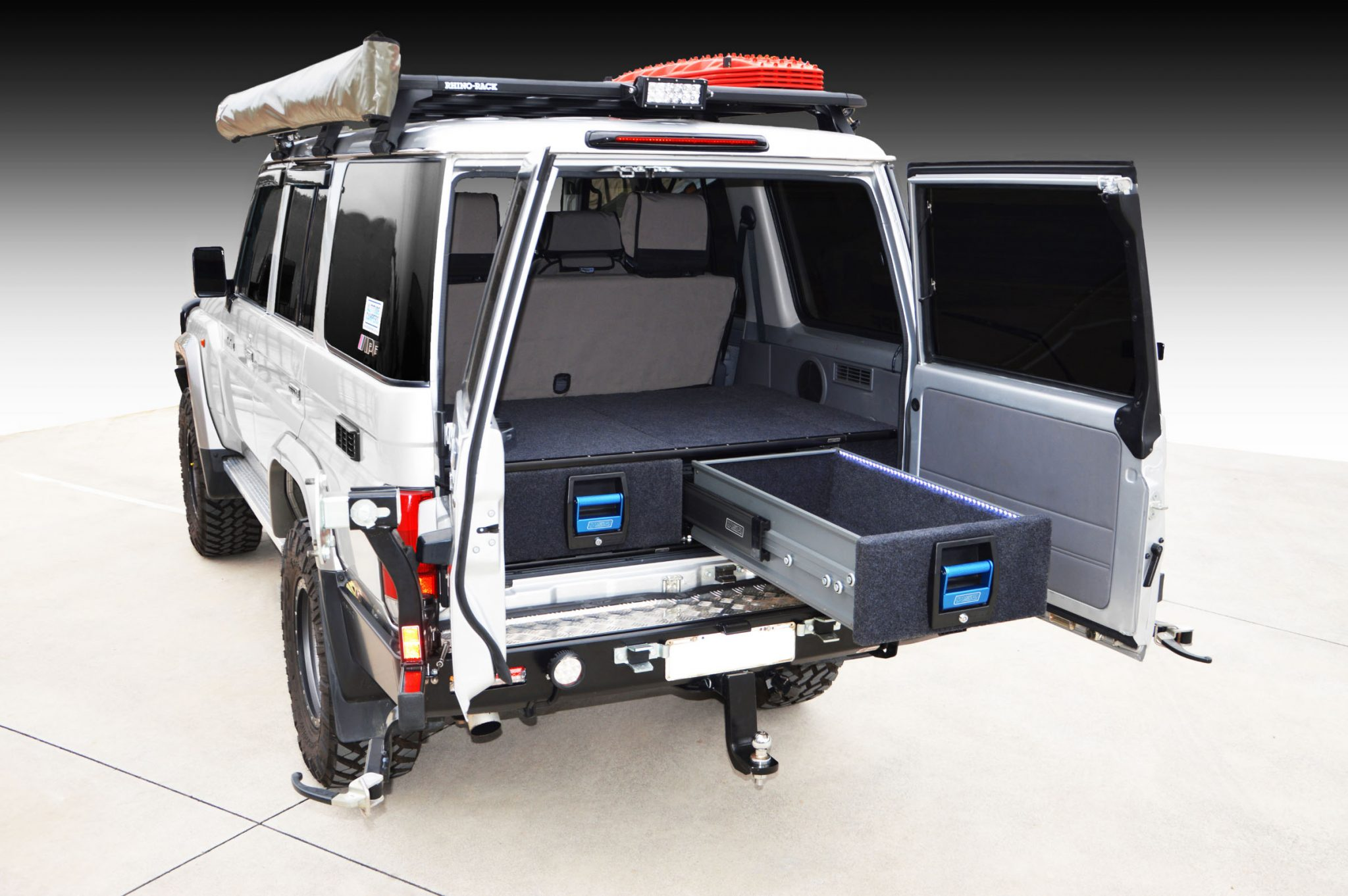 Toyota Landcruiser 76 Series Wagon Double Drawer System