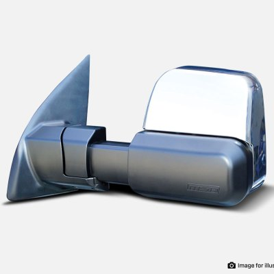 Black Chrome No Indicators Towing Mirror - MSA 4X4 Accessories