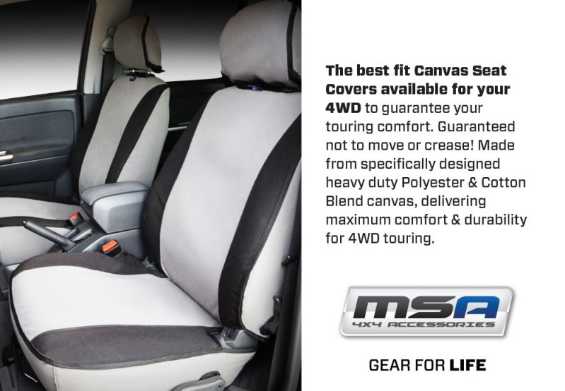 Best Fit Canvas Seat Covers for Offroad Vehicles - Premium Canvas Seat covers - MSA 4X4 Accessories for 4WD Vehicles