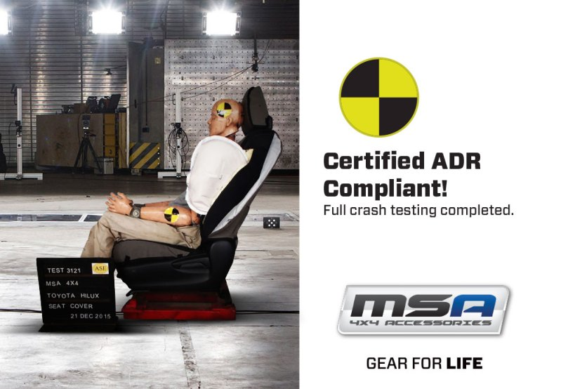 Certified ADR Complient Premium Canvas Seat covers - MSA 4X4 Accessories for 4WD Vehicles
