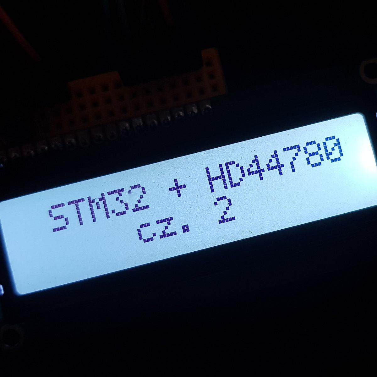 Wyświetlacz LCD 16x2 na STM32 + HAL cz.2