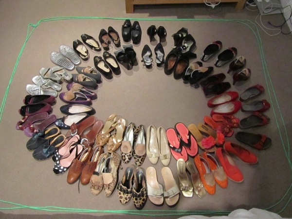 All my shoes. © Gita Beecroft