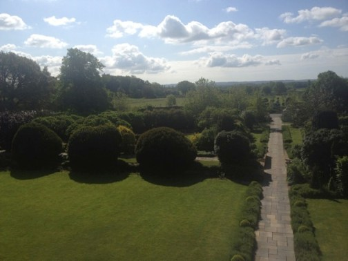 View of gardens and South Oxfordshire from our room