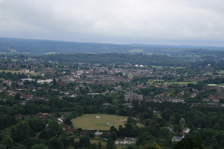 View from the top of Box Hill over Dorking