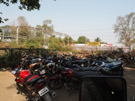 Crowded car park, India-style