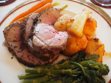 The OH has never, to my knowledge, cooked roast lamb before. And he even made mint sauce!