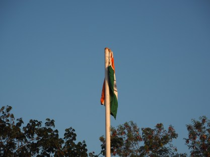 The Indian flag is raised, first thing on Republic Day