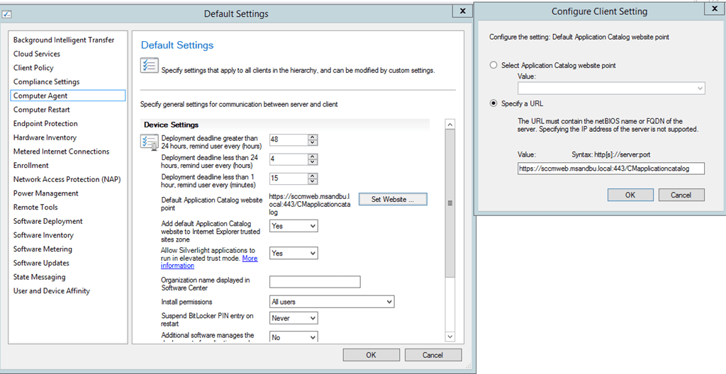 Load balancing Application Catalog for Configuration Manager