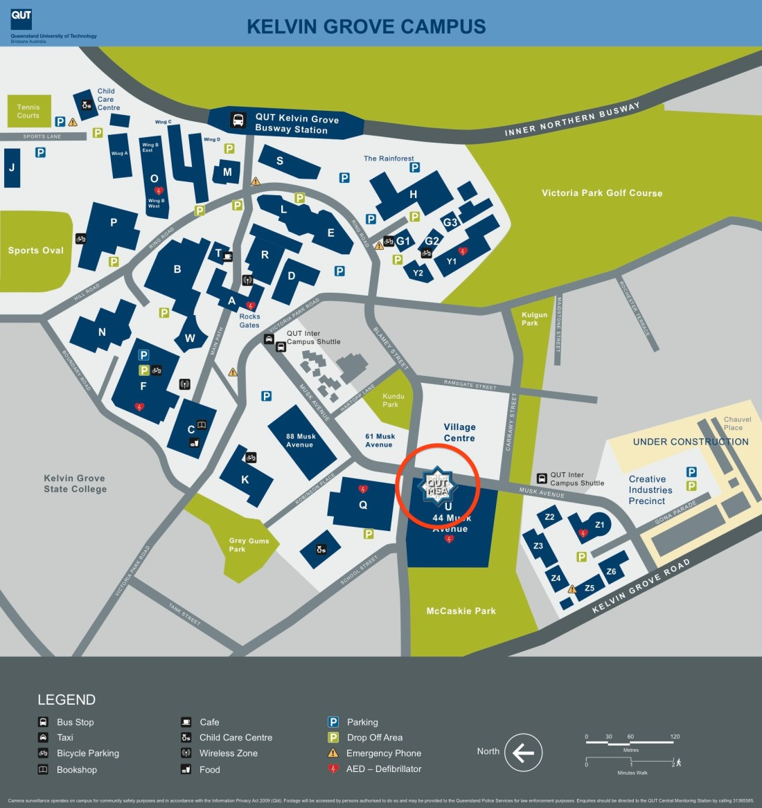 QUT Kelvin Grove campus jumuah location