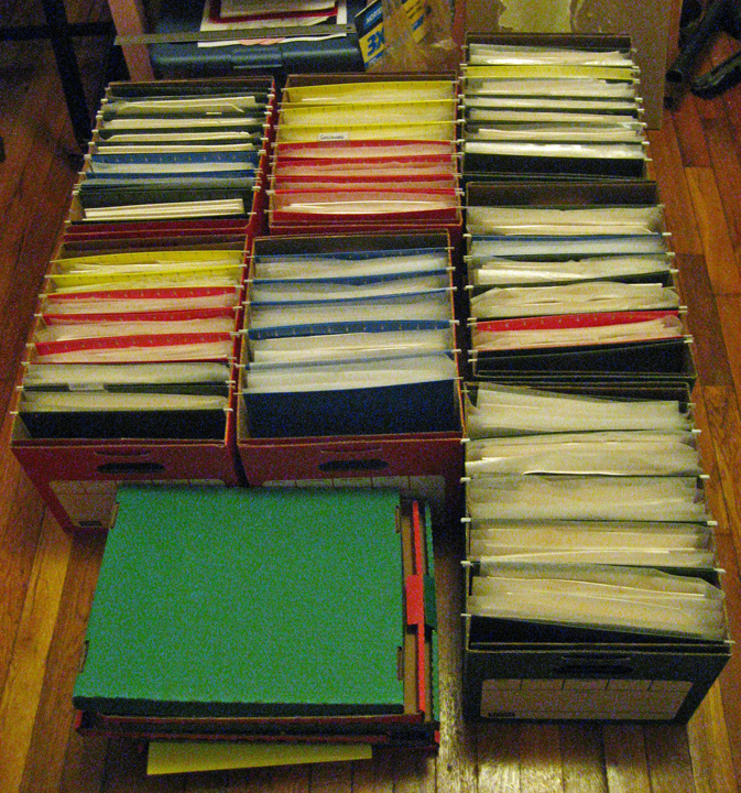I haven't officially counted, but based on the foam sheets I've been using to pad them, which come in boxes of 100...