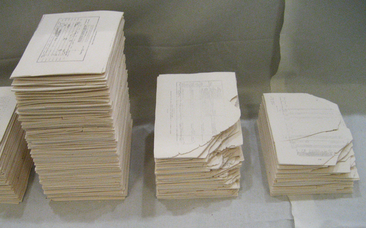 Initially, I was just stacking them randomly because I had no idea what I wanted to do, or what form they should take.