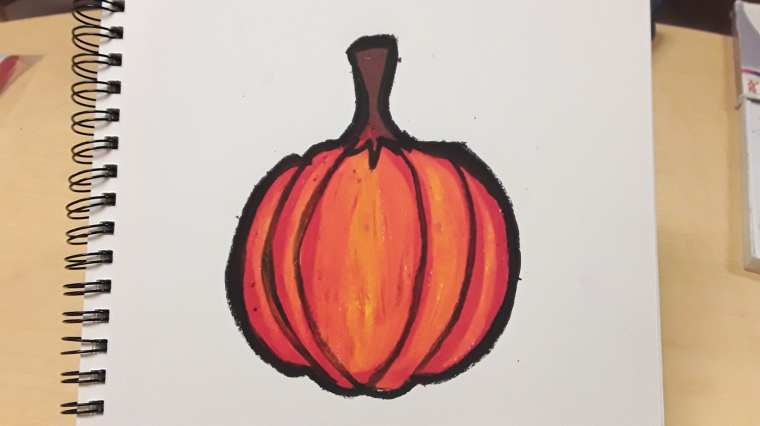 Learn How to Create this Autumn Pumpkin Art Project in your Classroom for Art Teaching Success! Plan quickly and teach confidently. Click to see this art tutorial! Art Teacher | Art Teacher Resource | Art Projects for Kids | Elementary Art Project | Middle School Art Project | Primary Art Project | Art Teacher Tips | Art Teaching Ideas | Art Education | Ms Artastic | Ms Artastic Resources