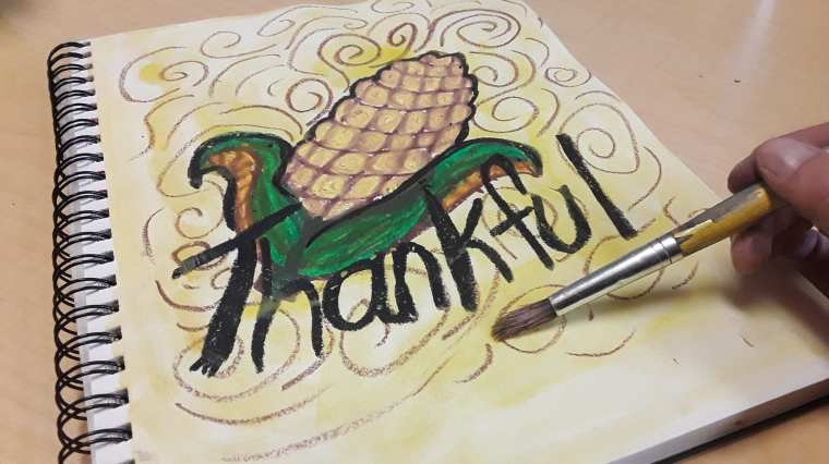 Learn How to Create this Thanksgiving Art Project in your Classroom for Art Teaching Success! Plan quickly and teach confidently. Click to see this art tutorial! Art Teacher | Art Teacher Resource | Art Projects for Kids | Elementary Art Project | Middle School Art Project | Primary Art Project | Art Teacher Tips | Art Teaching Ideas | Art Education | Ms Artastic | Ms Artastic Resources
