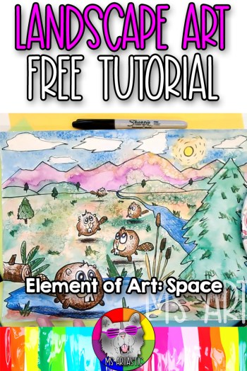 Explore the Element of Art: Space with your favorite art mediums, such as felt markers and crayons, with this silly Landscape Art Lesson Drawing Tutorial. This is an easy to-do, hands on activity that kids can do at home or in the classroom to help them learn and understand the element of art: space. Let's make art!
