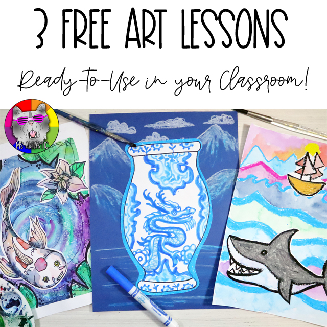 3 Free Ms Artastic Art Lessons for your Classroom!