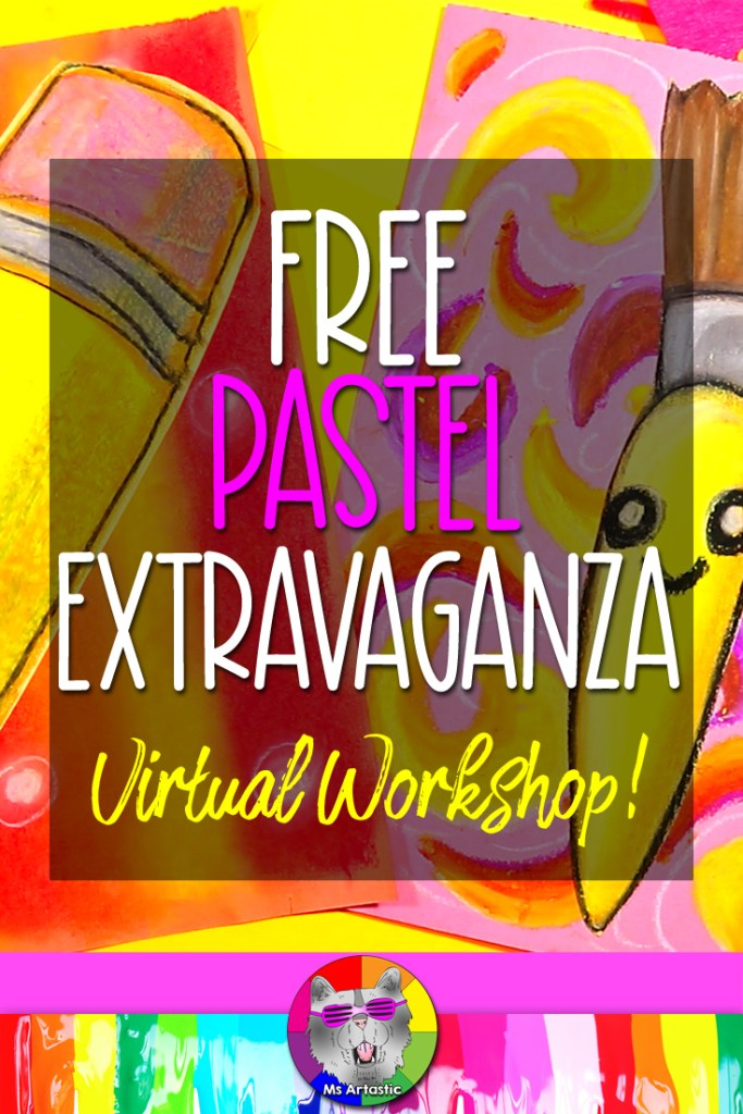 It's time to Make some Art with this FREE Virtual Webinar experience! Art Teachers, get ready because I'm hosting a limited viewing workshop called the Art Teachers Making Art: Pastel Extravaganza this August 2021! It is a completely free Professional Development workshop where I'll teach you how to make 2 art lessons exclusive to the virtual webinar for FREE! You will only get to view them for a limited time and that2 weektime frame starts NOW August 3rdso let's make some art!