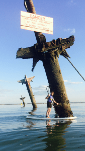Paddleboarder touches Montgomery Wreck