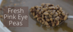 Fresh Pink Eye Peas In The Crock Pot