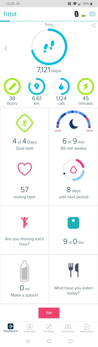 Fitbit App Home Screen Charge 2