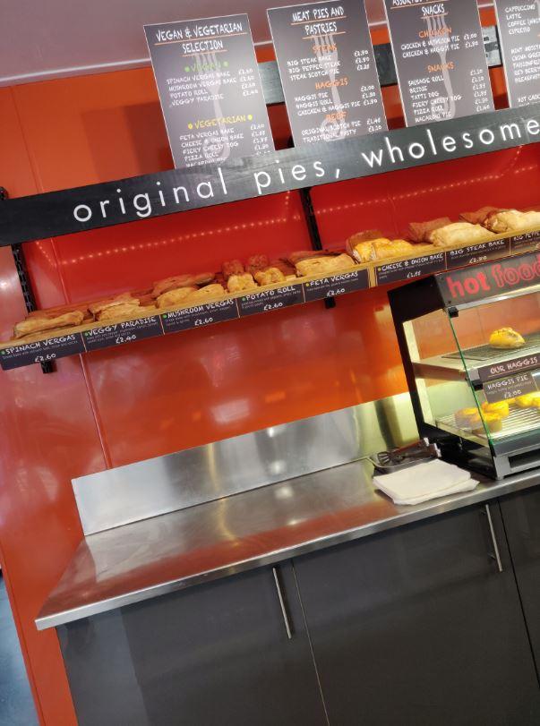 Menu for The Piemaker Edinburgh