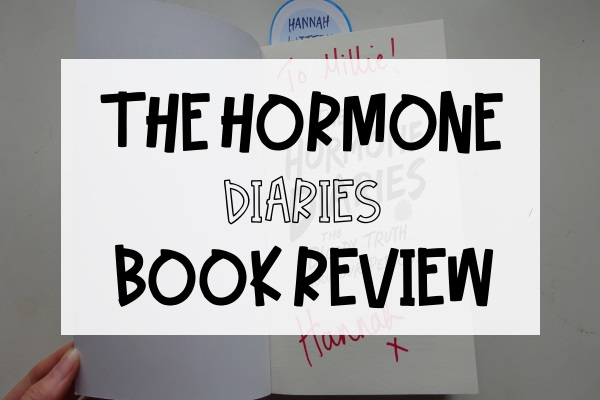 The Hormone Diaries Book Review Caption over Signed Book