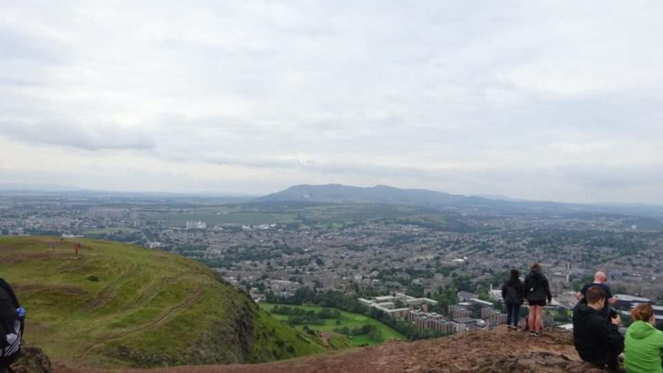 View from the top of Arthur's Seat